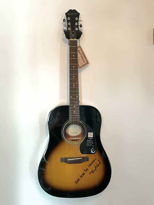 "Signed Epiphone guitar by Royal himself! + Digital Download of ""Ever After The Farewell"" + 2 Bonus Songs"